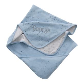 With Love From Binky Personalised Blue Splash Blanket, £22 at www.my1styears.comBinky