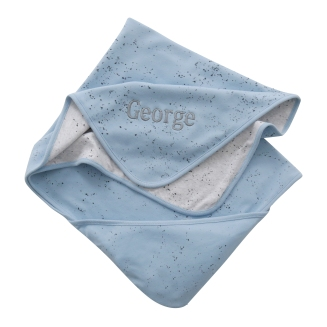 With Love From Binky Personalised Blue Splash Blanket, £22 at www.my1styears.comBinky