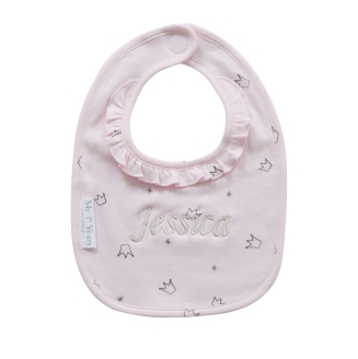 With Love From Binky Personalised Pink Crown Bib, £9 at www.my1styears.comBinky